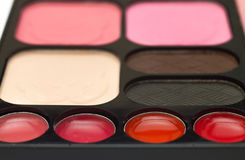 Palette shadow eyes makeup Royalty Free Stock Photo