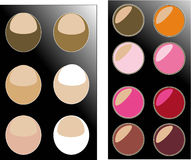 Palette.shadows. Set the palette for professional make-up Royalty Free Stock Photography