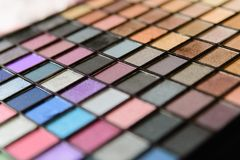 Eyeshadow Palette Royalty Free Stock Photography