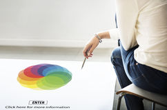 Palette Spectrum Range Creativity Graphics Concept Royalty Free Stock Photography