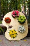 Palette Varicolored des fleurs Photographie stock libre de droits