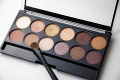 Palette von braunen Schatten lizenzfreie stockfotografie