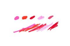 Palette von Farben des Lippenstifts lizenzfreie stockbilder