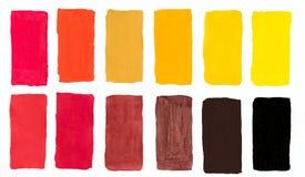 Palette of warm colors watercolor vector illustration