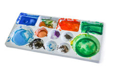 Palette of water color Stock Image