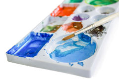 Palette of water color Royalty Free Stock Photos