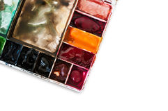 Palette of water color isolated Stock Photos