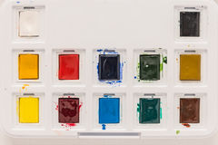 The palette of watercolor paint. Royalty Free Stock Photo