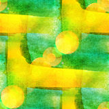 Palette yellow, green watercolor brush yellow. Black abstract art artistic background stock illustration