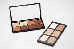 Palettea of contour shades. Two palettes of contour shades on a white background Stock Photo