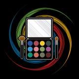 Paletten-Kosmetik Lizenzfreie Stockfotos