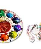 Palettes,background. Stock Image
