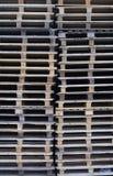 Palettes de cargaison, format de verticale image stock