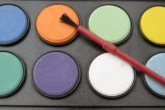 Palettes de couleur de l'eau Photographie stock libre de droits