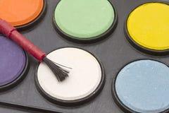 Palettes de couleur de l'eau Photo stock