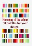 Palettes de couleur harmonieuses pour la conception Photo stock