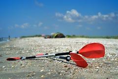 Palettes de kayak Images libres de droits