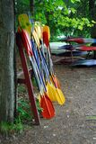 Palettes de kayak Photo libre de droits