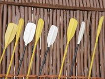 Palettes de kayak de mer Images libres de droits