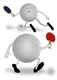Palettes de ping-pong Photographie stock