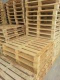 Palettes en bois image stock