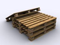 Paletts standard impilati per logistico chimico Fotografie Stock