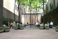 New York City Pocket Park Stock Image