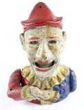 Palhaço antigo Hand Money Box Imagem de Stock Royalty Free