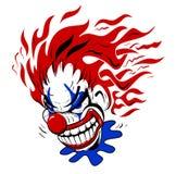 Palhaço assustador louco Cartoon Illustration Imagens de Stock