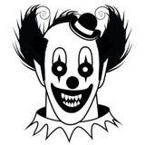 Palhaço assustador preto e branco Imagens de Stock Royalty Free