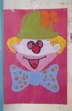 Palhaço brilhante colorido Purim da imagem Fotografia de Stock