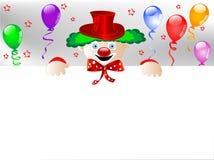 Palhaço com balões Fotos de Stock Royalty Free