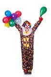 Palhaço com balões Foto de Stock