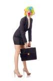 Palhaço da mulher Foto de Stock