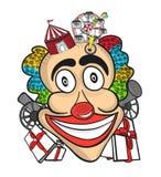 Palhaço de sorriso Imagens de Stock Royalty Free