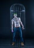 Palhaço de uma banda desenhada do pelotão do suicídio em um fundo preto Composição profissional Fotografia de Stock
