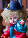 Palhaço Doll Imagens de Stock Royalty Free