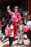 Palhaço e crianças Fotos de Stock Royalty Free