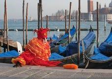 Palhaço em Veneza Foto de Stock