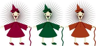 Palhaços assustadores ilustração do vetor