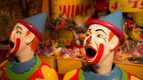 Palhaços de riso do carnaval Imagens de Stock