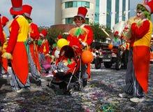 Palhaços do carnaval da rua Fotos de Stock