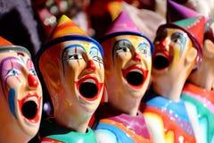 Palhaços do carnaval na exposição de Ekka Brisbane ou na mostra real de Queensland, Brisbane, Austrália imagens de stock royalty free