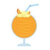 palha alaranjada deliciosa do cocktail ilustração stock