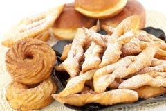 Palha da filhós e da pastelaria Imagem de Stock