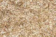 Palha de canteiro de madeira na terra em um jardim Imagem de Stock Royalty Free