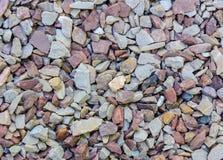 Palha de canteiro de pedra natural fina para ajardinar o fundo da textura Foto de Stock