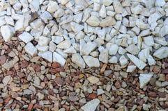 Palha de canteiro de pedra natural fina para ajardinar o fundo da textura Imagem de Stock