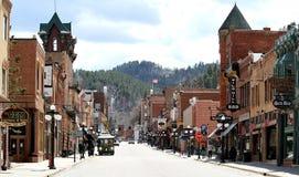 Palha histórica de Main Street, South Dakota fotos de stock