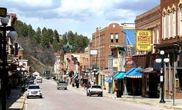 Palha hist?rica de Main Street, South Dakota fotos de stock